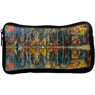 Snoogg Golden Reflection Nature Poly Canvas  Multi Utility Travel Pouch