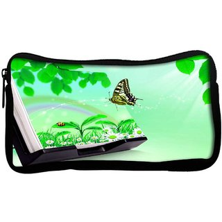 Snoogg Nature Butterfly Poly Canvas  Multi Utility Travel Pouch