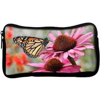 Snoogg Butterfly In Flower Poly Canvas  Multi Utility Travel Pouch