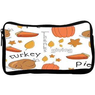 Snoogg Thanks Giving Poly Canvas S Multi Utility Travel Pouch