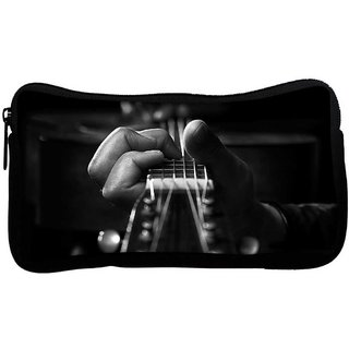 Snoogg Playing The Guitar Poly Canvas  Multi Utility Travel Pouch