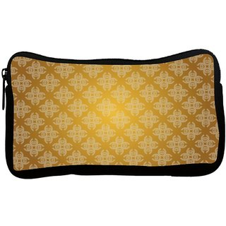 Snoogg Lite Yellow Pattern Poly Canvas S Multi Utility Travel Pouch