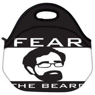 Snoogg Fear The Beard 2745 Travel Outdoor Tote Lunch Bag