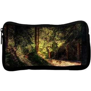 Snoogg Falling Sun Light In Forest Poly Canvas  Multi Utility Travel Pouch