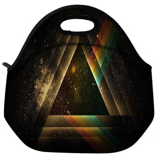 Snoogg Abstract Triangle Travel Outdoor Tote Lunch Bag
