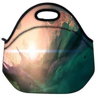 Snoogg Explosion Fantasy Travel Outdoor Tote Lunch Bag