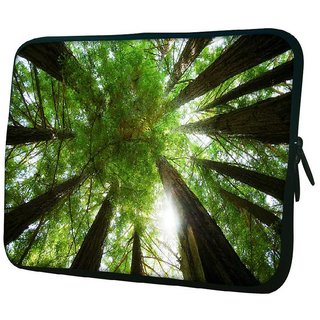 Snoogg Multiple Trees 10.2 Inch Soft Laptop Sleeve