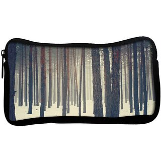 Snoogg Snow In Forest Poly Canvas  Multi Utility Travel Pouch