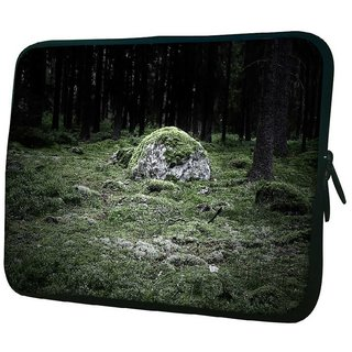 Snoogg Green Grass In Stone 10.2 Inch Soft Laptop Sleeve