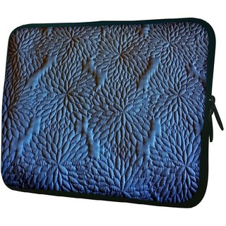 Snoogg Blue Pattern 1010.2 Inch Soft Laptop Sleeve
