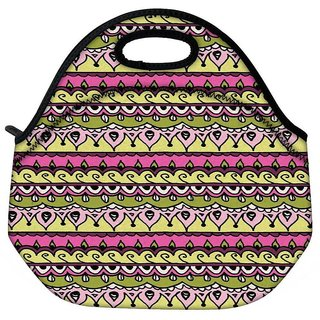 Snoogg Aztec Pink Designer Protective Back Case Cover For Oneplus 3 Travel OutdoorTote Lunch Bag