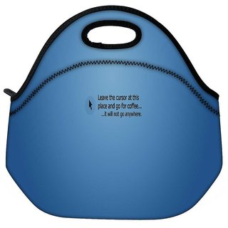 Snoogg Leave The Cursor Travel Outdoor Tote Lunch Bag
