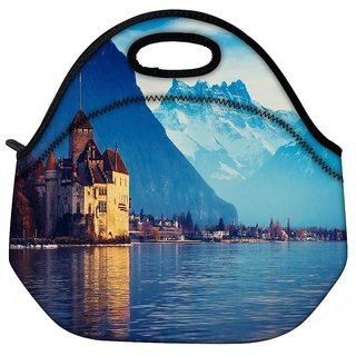 Snoogg Lake Geneva Travel Outdoor Tote Lunch Bag