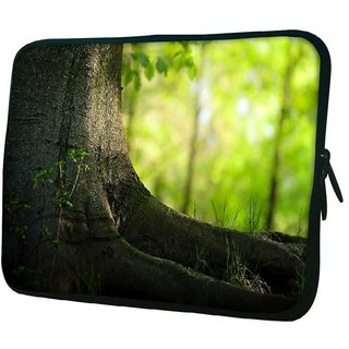 Snoogg Small Plant 10.2 Inch Soft Laptop Sleeve
