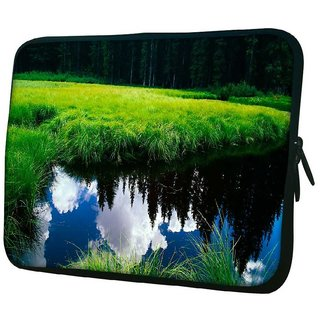 Snoogg Clouds On Water 10.2 Inch Soft Laptop Sleeve