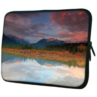 Snoogg Red Clouds 10.2 Inch Soft Laptop Sleeve