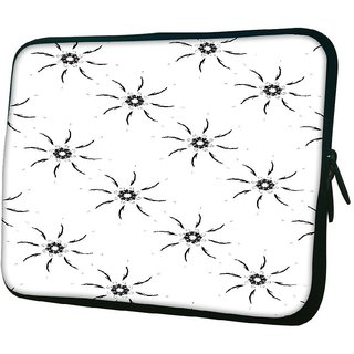 Snoogg Sparkling Sun Grey 1010.2 Inch Soft Laptop Sleeve