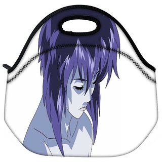 Snoogg Ghost In The Shell Motoko Kusanagi Girl Travel Outdoor Tote Lunch Bag
