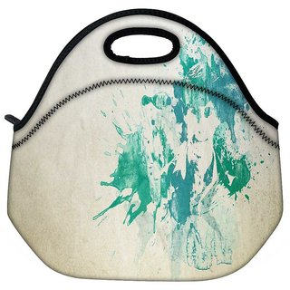 Snoogg Painting Of A Man Travel Outdoor Tote Lunch Bag