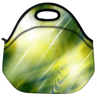 Snoogg Abstract Green Pattern Design Travel Outdoor Tote Lunch Bag