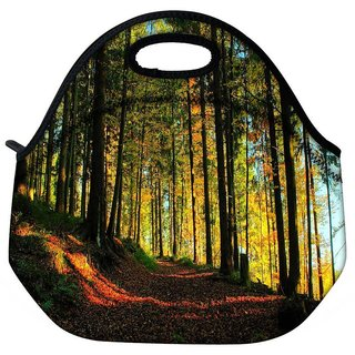 Snoogg Blossom Forest Travel Outdoor Tote Lunch Bag