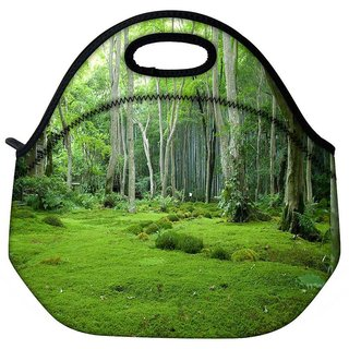 Snoogg Green Garden Travel Outdoor Tote Lunch Bag