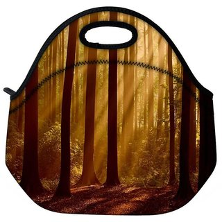 Snoogg Evebibg Forest Travel Outdoor Tote Lunch Bag