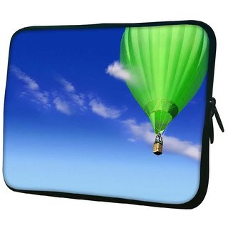 Snoogg Green Parachute Balloons 10.2 Inch Soft Laptop Sleeve