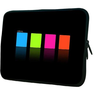 Snoogg Colours 10.2 Inch Soft Laptop Sleeve