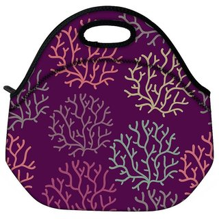 Snoogg Seamless Pattern With Leaf Seamless Texture Can Be Used For Wallpaper Travel Outdoor Tote Lunch Bag