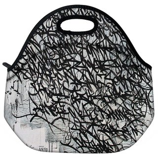 Snoogg Graffiti Incase Travel Outdoor Tote Lunch Bag