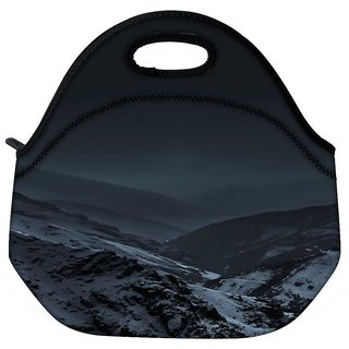 Snoogg Nature Earth Dark Travel Outdoor Tote Lunch Bag