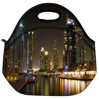 Snoogg Evening View Of Buildings Travel Outdoor Tote Lunch Bag