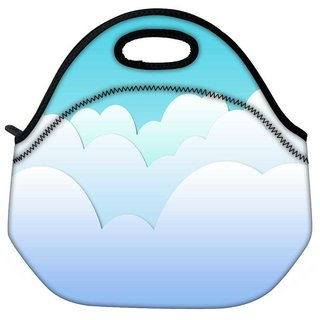 Snoogg Multiple Clouds Travel Outdoor Tote Lunch Bag