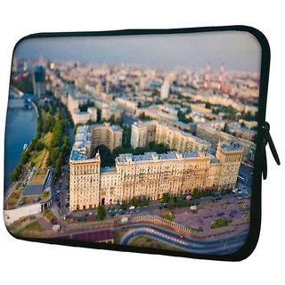 Snoogg White Big Palace 10.2 Inch Soft Laptop Sleeve