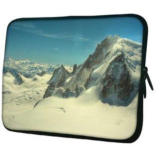 Snoogg Snow Mountains 10.2 Inch Soft Laptop Sleeve