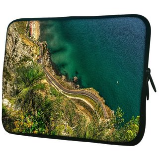 Snoogg Colorful Water 10.2 Inch Soft Laptop Sleeve