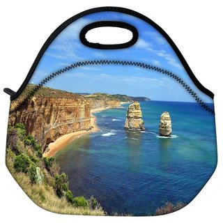 Snoogg Abstract Ocean View Travel Outdoor Tote Lunch Bag