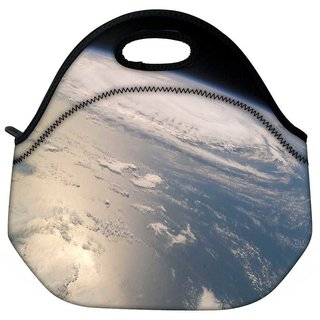 Snoogg Clouds In Earth Travel Outdoor Tote Lunch Bag