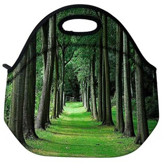 Snoogg Walking Way In Forest Travel Outdoor Tote Lunch Bag