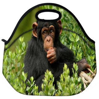 Snoogg Cute Chimpanese Travel Outdoor Tote Lunch Bag