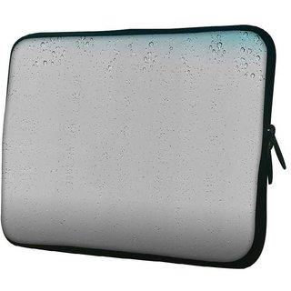 Snoogg Small Bubbles 10.2 Inch Soft Laptop Sleeve