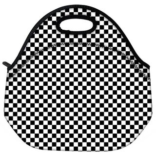 Snoogg Abstract Chess Pattern Travel Outdoor Tote Lunch Bag