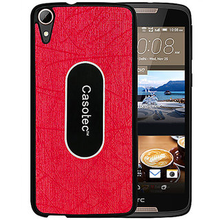 Casotec Metal Back TPU Back Case Cover for HTC Desire 828 Dual - Red