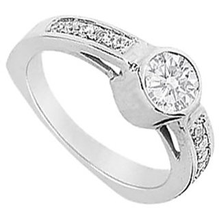 LoveBrightJewelry Classy 18K White Gold & Diamond Engagement Ring-1.00 CT