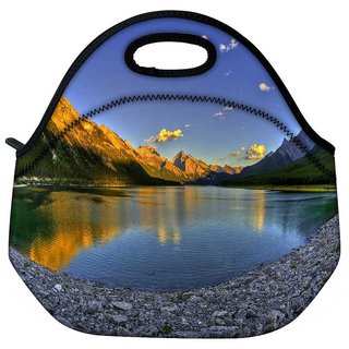 Snoogg River Side Stones Travel Outdoor Tote Lunch Bag