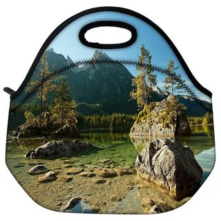 Snoogg Rocks In The River Travel Outdoor Tote Lunch Bag