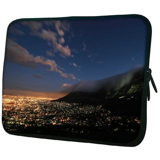 Snoogg Abstract Smoke On Top 10.2 Inch Soft Laptop Sleeve