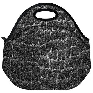 Snoogg Black Stones Travel Outdoor CTote Lunch Bag