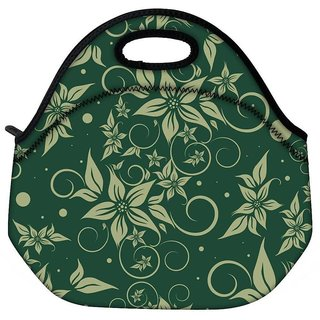 Snoogg Light Flower Travel Outdoor CTote Lunch Bag